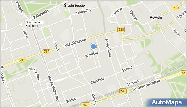 Warszawa, Warecka, mapa Warszawy