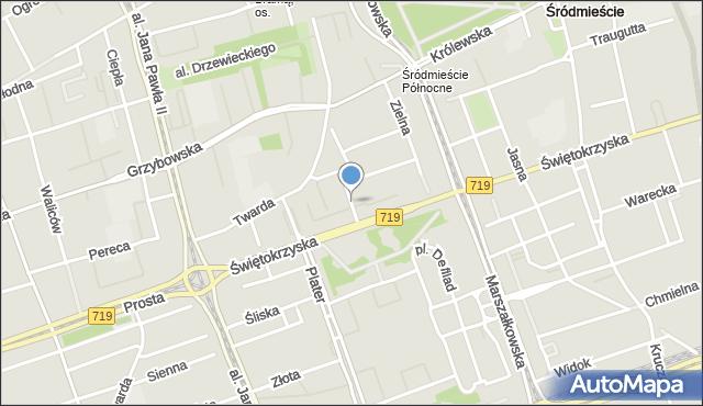 Warszawa, Wallenberga Raoula, mapa Warszawy