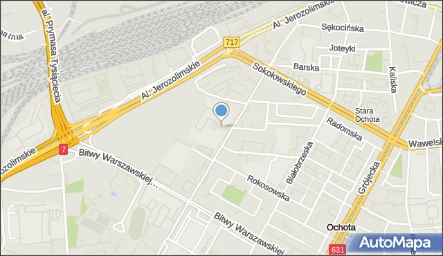Warszawa, Wahadło, mapa Warszawy