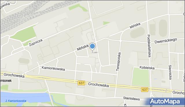 Warszawa, Wawerska, mapa Warszawy