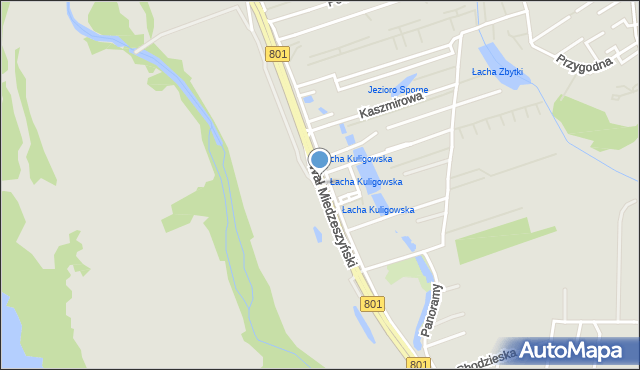 Warszawa, Wał Miedzeszyński, mapa Warszawy