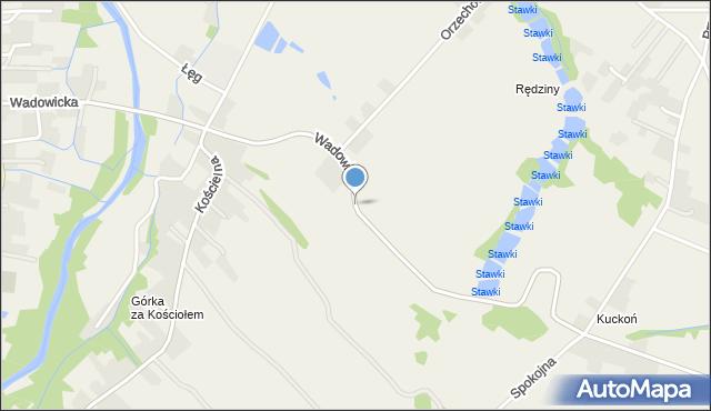Wieprz powiat wadowicki, Wadowicka, mapa Wieprz powiat wadowicki