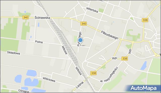 Wołów, Waszyngtona Jerzego, mapa Wołów