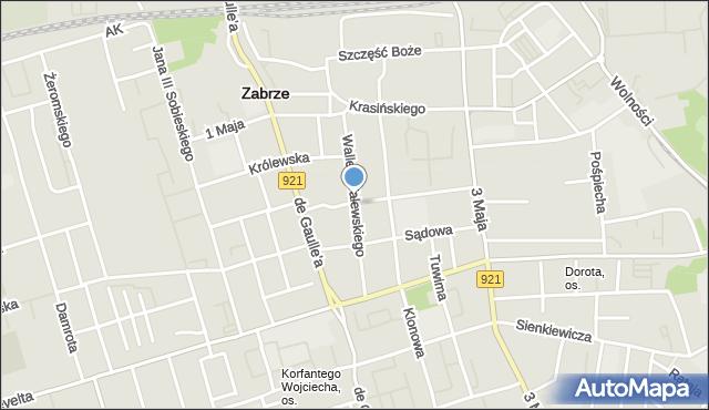 Zabrze, Wallek-Walewskiego Bolesława, mapa Zabrza