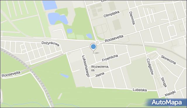Zabrze, Wallisa Łukasza, mapa Zabrza