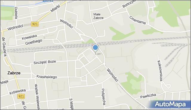 Zabrze, Wandy, mapa Zabrza