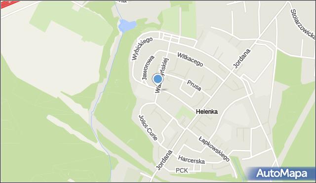 Zabrze, Wawrzyńskiej Ludwiki, mapa Zabrza
