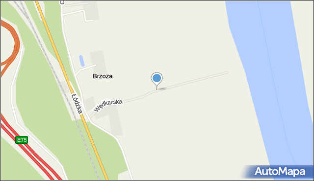 Brzoza gmina Wielka Nieszawka, Wędkarska, mapa Brzoza gmina Wielka Nieszawka