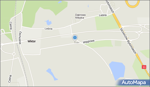 Bytom, Węglowa, mapa Bytomia