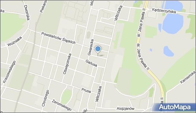 Bytom, Wesoła, mapa Bytomia