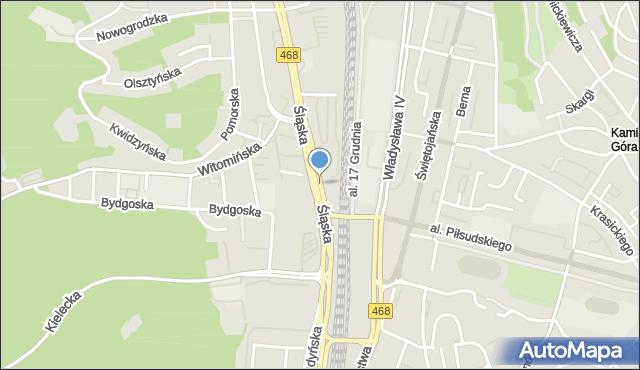 Gdynia, Węzeł Cegielskiej Franciszki, mapa Gdyni