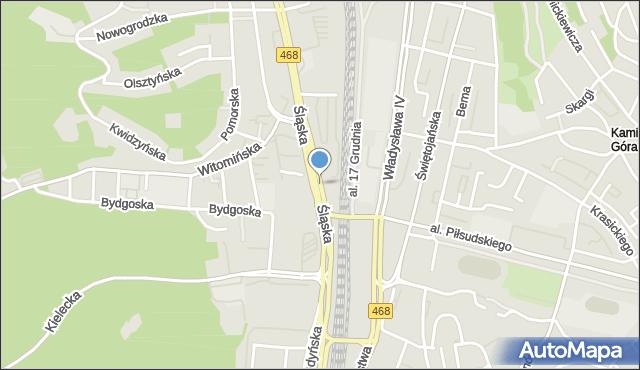 Gdynia, Węzeł Franciszki Cegielskiej, mapa Gdyni