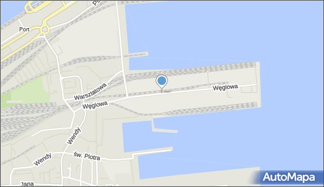 Gdynia, Węglowa, mapa Gdyni