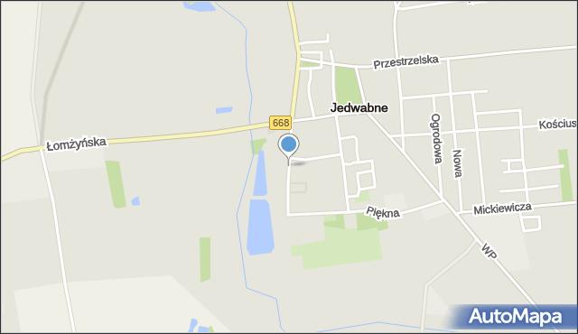 Jedwabne, Wesoła, mapa Jedwabne