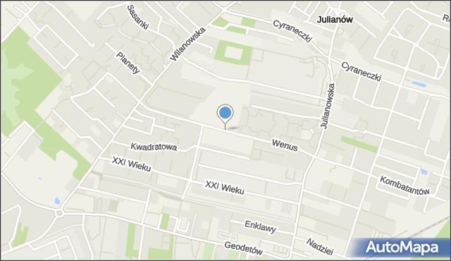 Józefosław, Wenus, mapa Józefosław