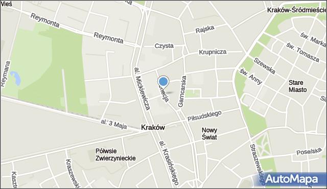 Kraków, Wenecja, mapa Krakowa