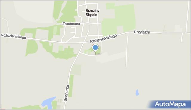 Piekary Śląskie, Wentylacyjna, mapa Piekary Śląskie