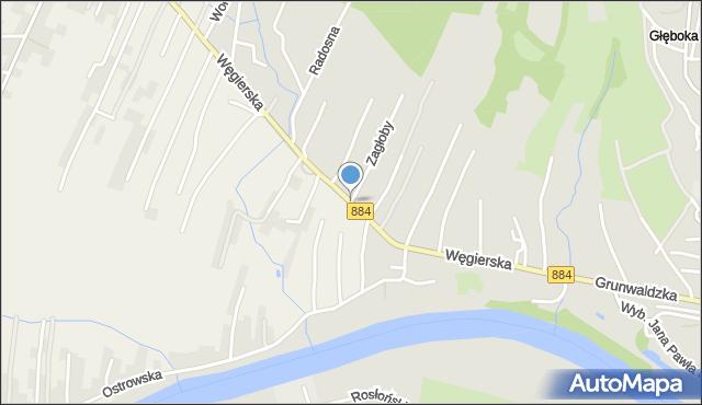 Przemyśl, Węgierska, mapa Przemyśla