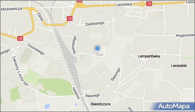 Przemyśl, Wernyhory, mapa Przemyśla