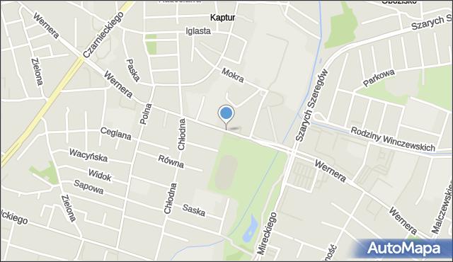 Radom, Wernera Stanisława, mapa Radomia