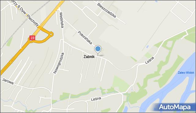 Rzeszów, Wetlińska, mapa Rzeszów