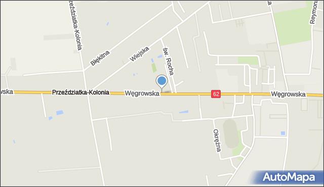 Sokołów Podlaski, Węgrowska, mapa Sokołów Podlaski