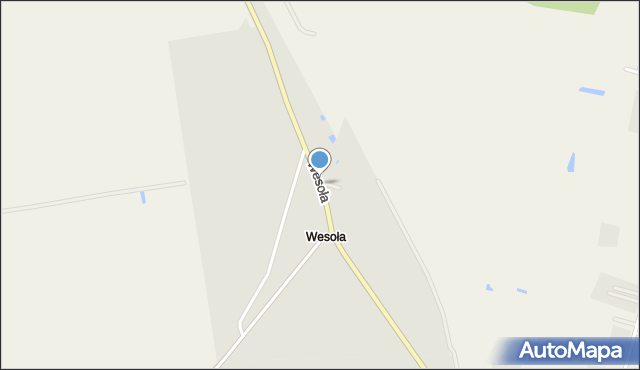 Sokołów Podlaski, Wesoła, mapa Sokołów Podlaski