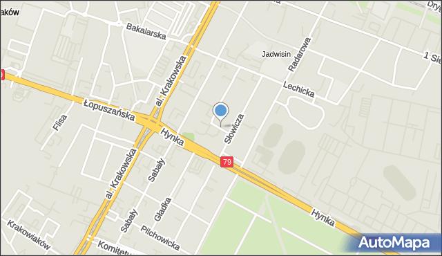 Warszawa, Węgorzewska, mapa Warszawy