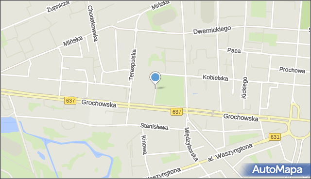 Warszawa, Weterynaryjna, mapa Warszawy