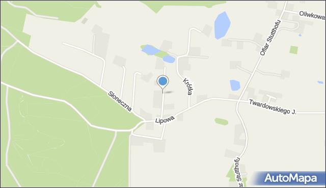 Barłomino, Wiśniowa, mapa Barłomino