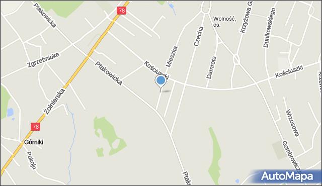 Bytom, Winklera Waltera, mapa Bytomia