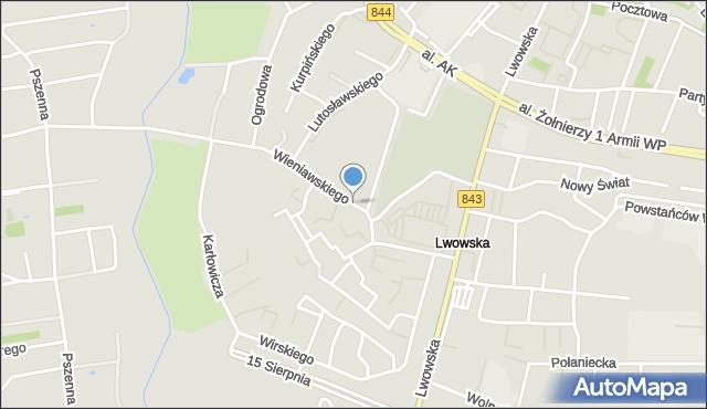 Chełm, Wieniawskiego Henryka, mapa Chełma