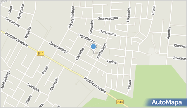 Chełm, Wiosenna, mapa Chełma