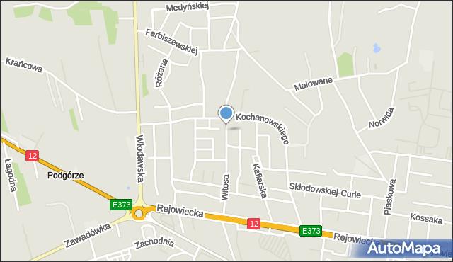 Chełm, Witosa Wincentego, mapa Chełma