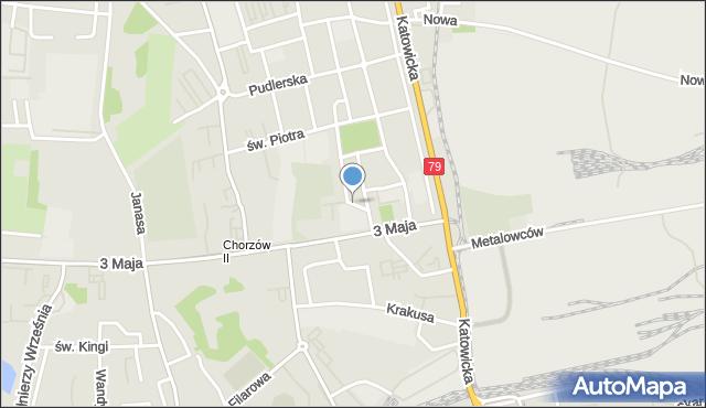Chorzów, Wileńska, mapa Chorzów