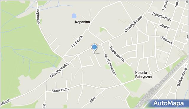 Chrzanów, Winna, mapa Chrzanów
