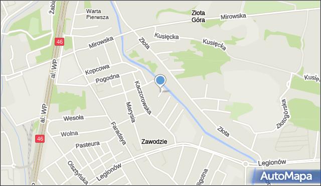 Częstochowa, Wioślarska, mapa Częstochowy