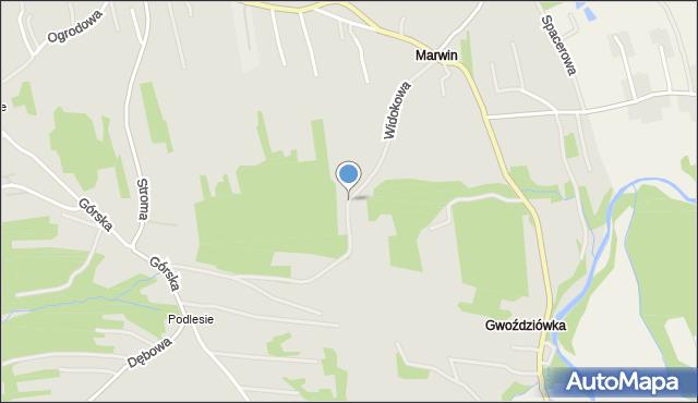 Dobczyce, Widokowa, mapa Dobczyce