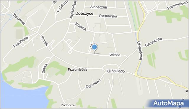 Dobczyce, Witosa Wincentego, mapa Dobczyce