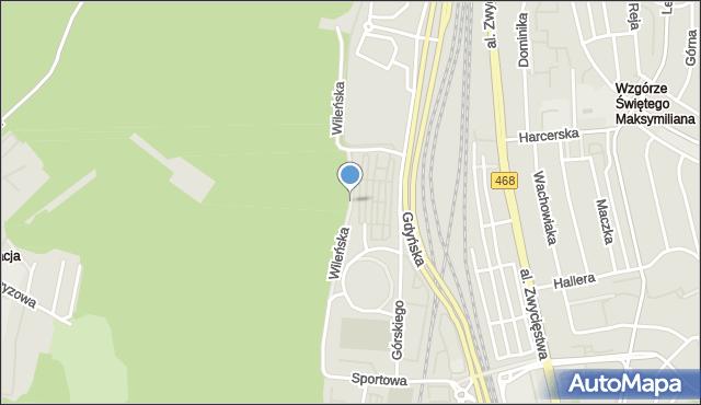 Gdynia, Wileńska, mapa Gdyni