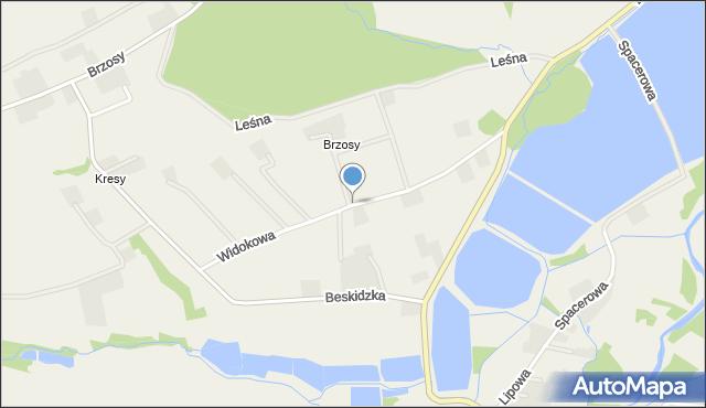 Gierałtowice gmina Wieprz, Widokowa, mapa Gierałtowice gmina Wieprz