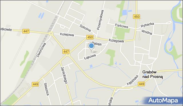 Grabów nad Prosną, Witosa Wincentego, mapa Grabów nad Prosną