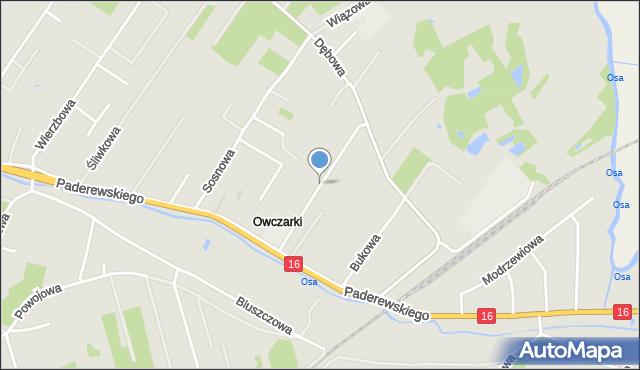 Grudziądz, Wiśniowa, mapa Grudziądza