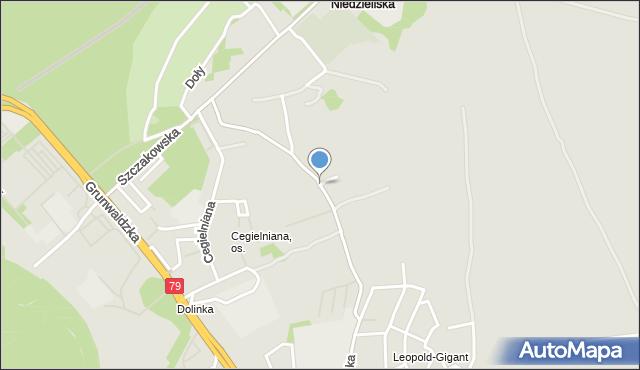 Jaworzno, Wiejska, mapa Jaworzno