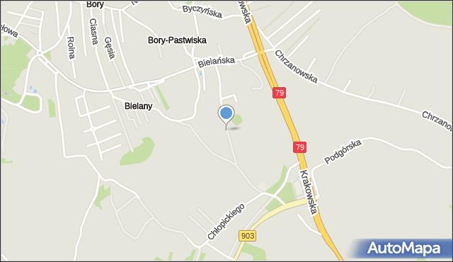 Jaworzno, Wieniawskiego Henryka, mapa Jaworzno