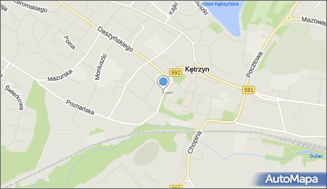 Kętrzyn, Wileńska, mapa Kętrzyn
