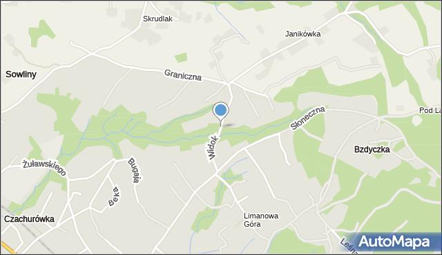 Limanowa, Widok, mapa Limanowa