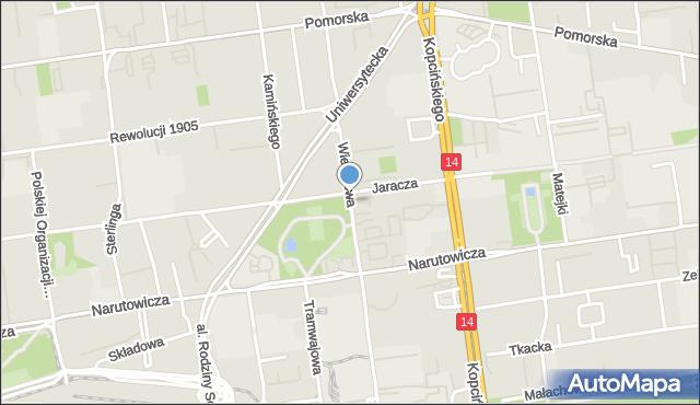 Łódź, Wierzbowa, mapa Łodzi