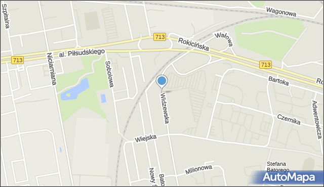 Łódź, Widzewska, mapa Łodzi