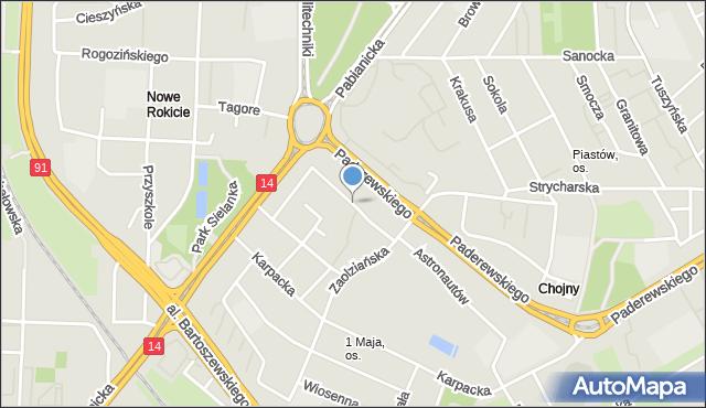 Łódź, Wiwulskiego Antoniego, mapa Łodzi